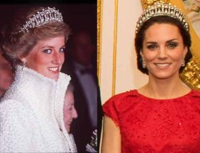 Prinsessan Diana och prinsessan Kate i samma tiara
