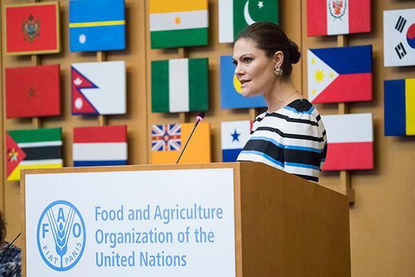 """Kronprinsessan på seminariet """"Step it up together with rural women to end hunger and poverty""""."""