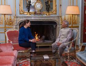 Kronprinsessan VIctoria i möte med Muhammad Yunus