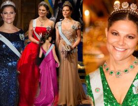 Kronprinsessan Victorias Nobelklänningar
