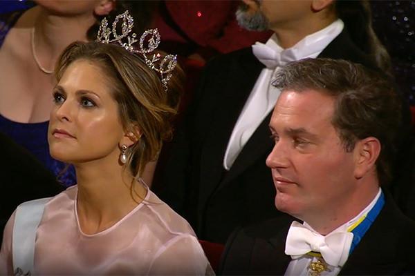 Prinsessan Madeleine och Chris O'neill på Nobel 2016.
