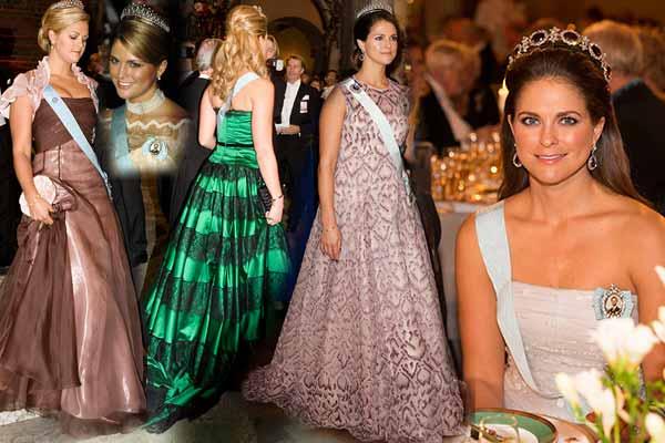 Prinsessan Madeleines Nobelklänningar