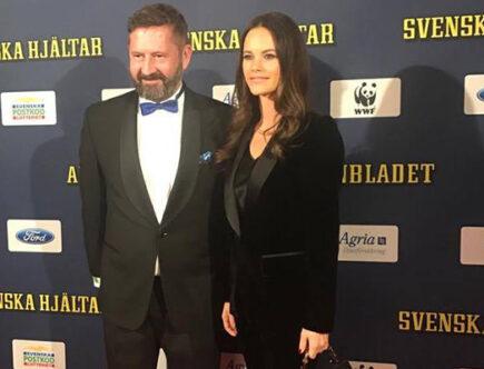 Prinsessan Sofia med Nils Franchell, projektchef för Svenska hjältar.