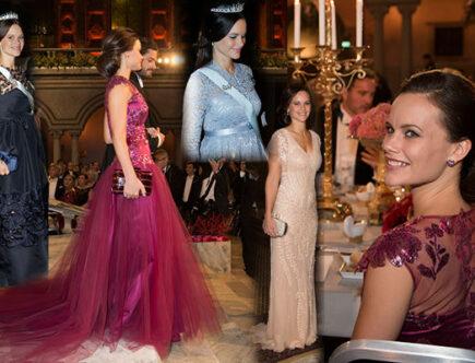 Prinsessan Sofias Nobelklänningar