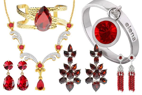 röda smycken