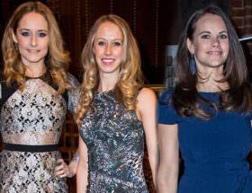 Prinsessan Sofia med sina systrar Sara Hellqvist och Lina Frejd