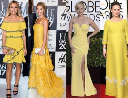 Elle-galan, Golden Globe galan, gult mode