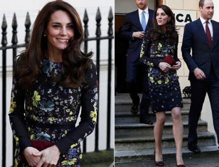 Hertiginnan Kate, prins Harry och prins William