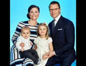 Kronprinsessan Victoria, prins Daniel, prinsessan Estelle, prins Oscar