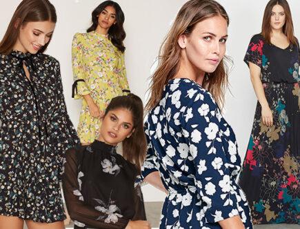 Blommiga klänningar, mode