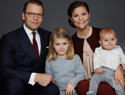 Kronprinsesssan Victoria, prins Daniel, prinsessan Estelle, prins Oscar