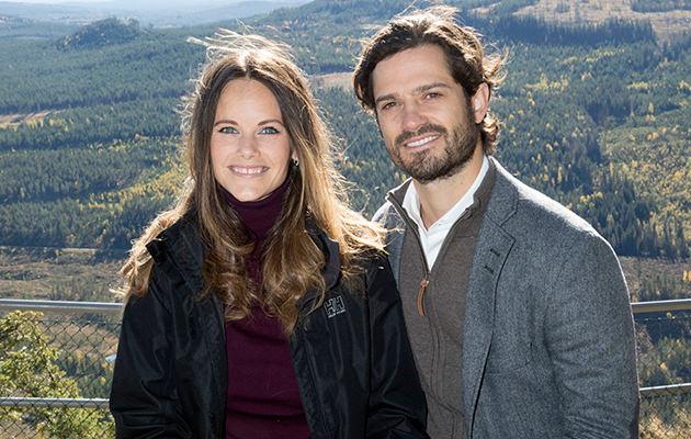 Prinsessan Sofia och Prins Carl Philip i en podd