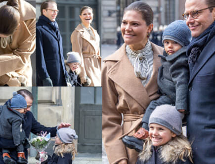 Kronprinsessan Victoria, Prinsessan Estelle, prins Daniel och prins Oscar