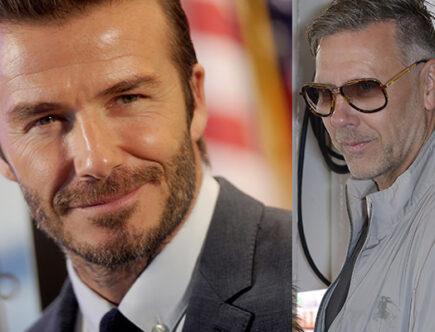 David Beckham och Mikael Persbrandt