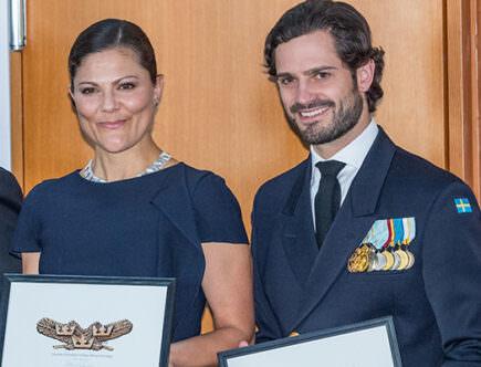 Kronprinsessan Victoria och prins Carl Philip