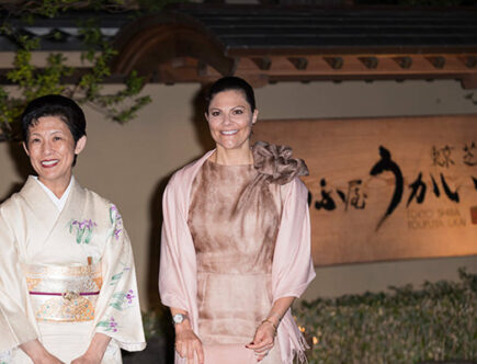 Prinsessan Takamado och kronprinsessan Victoria.