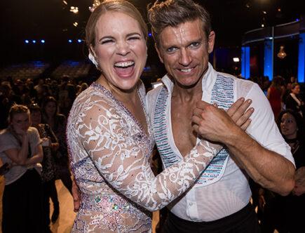 Anja Pärson och Jesper Blomqvist