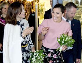 Kronprinsessan Mary och kronprinsessan Victoria