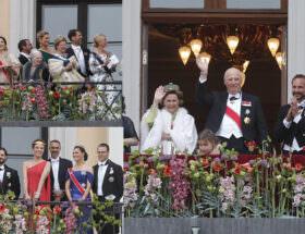 Drottning Sonja, kung Harald, kronprinsessan Mette-Marit, kronprins Haakon