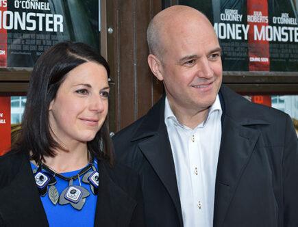 Roberta Ahlenius och Fredrik Reinfeldt