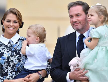 Prinsessan Madeleine, prins Nicolas, Chris O'Neill och prinsessan Leonore