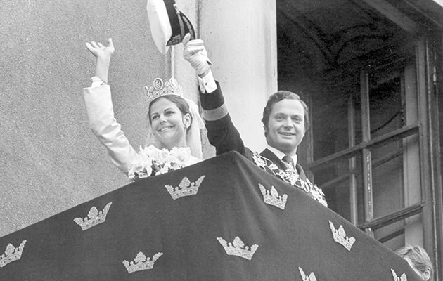 Kungen och drottning Silvias bröllop 1976.
