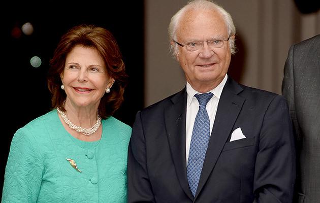 Drottning Silvia och kungen