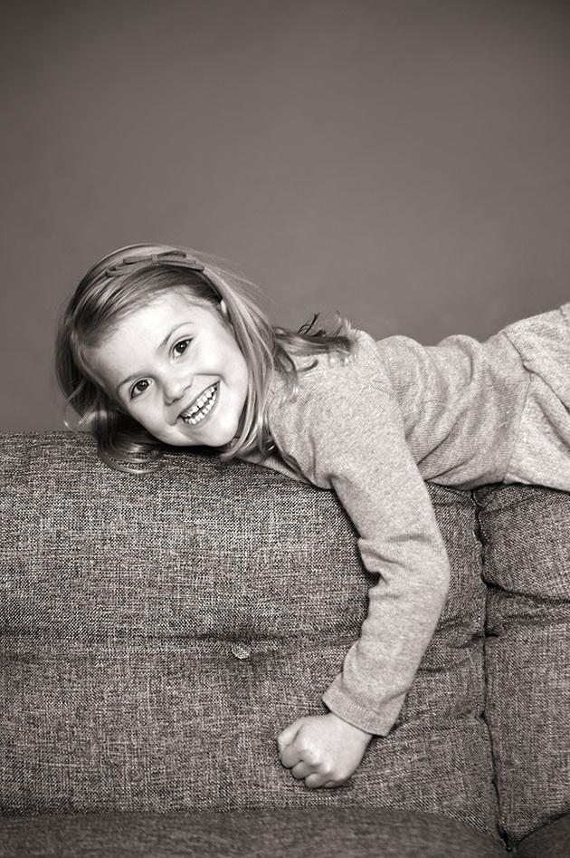 Fina prinsessan Estelle i samband med hennes 5-årsdag.