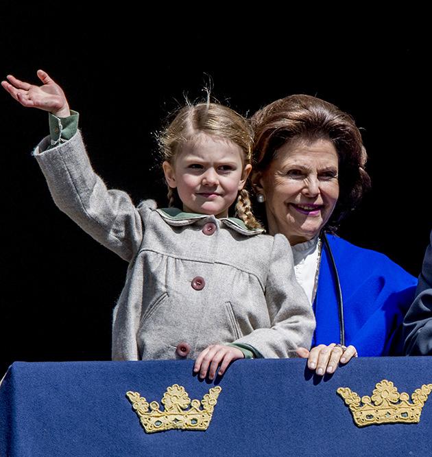 Prinsessan Estelle, drottning Silvia