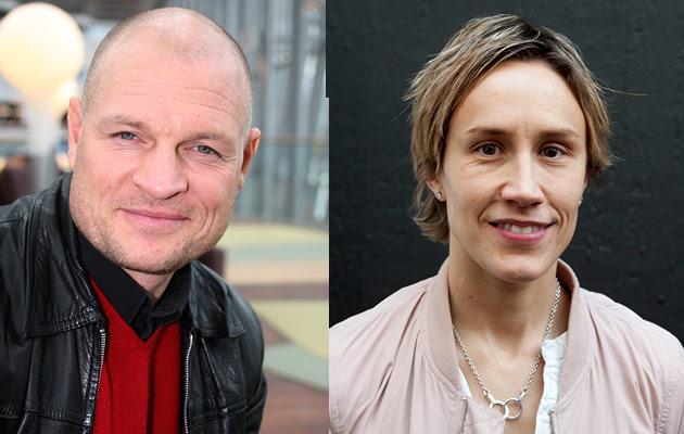 Pelle Fosshaug ochMaria Rooth tävlar med Peter Forsberg.