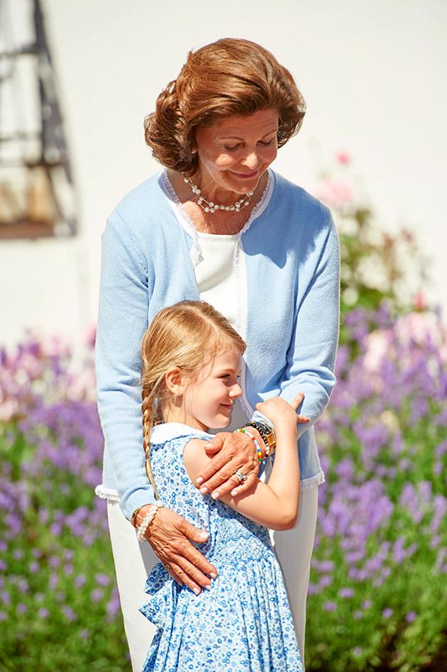 Drottning Silvia och prinsessan Estelle