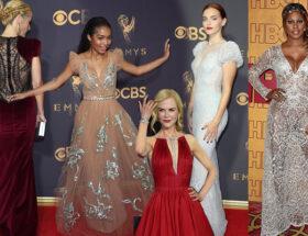 Emmy klänningar kändis gala