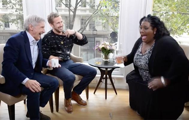 Harrison Ford, Ryan Gosling, Alison Hammond