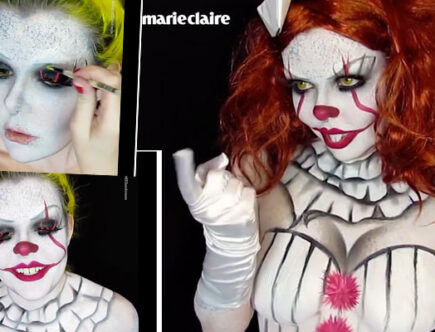 Marie Claire Halloween make up
