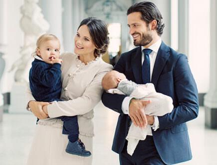 Prins Gabriel, prins Alexander, prins Carl Philip och prinsessan Sofia