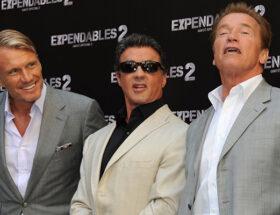 Dolph Lundgren, Sylvester Stallone och Arnold Schwarzenegger