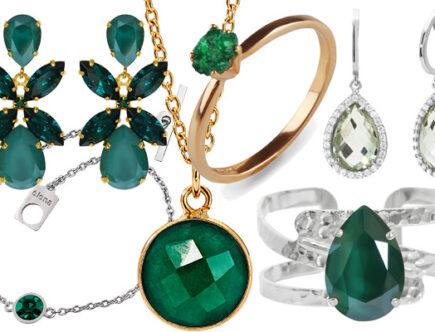 Gröna accessoarer smycken