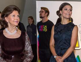 Drottning Silvia och kronprinsessan Victoria
