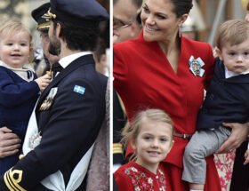 Prins Gabriels dop, prins Daniel, kronprinsessan Victoria, prins Oscar, prinsessan Estelle