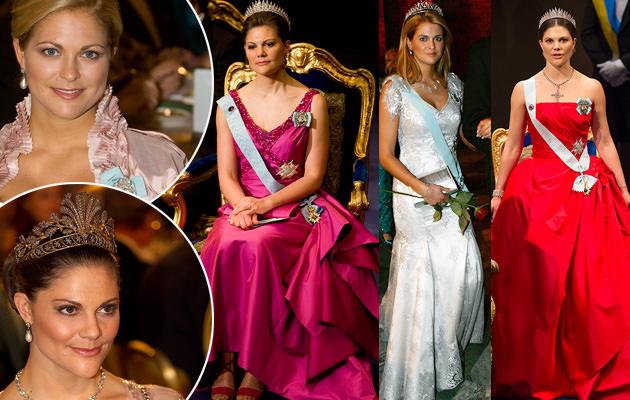 Nobel kronprinsessan Victoria och prinsessan Madeleine