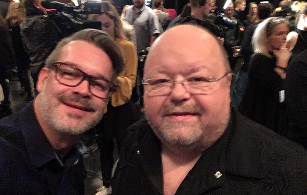 GALAs reporter Pär Jonasson med Kalle Moraeus.