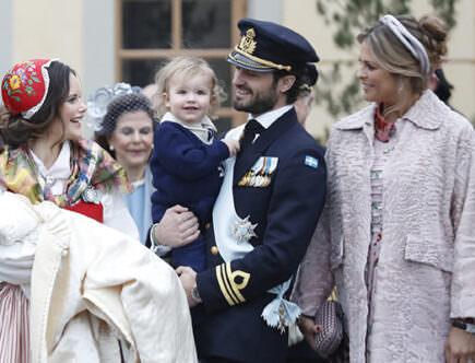 Prins Gabriels dop, prinsessan Sofia, prins Gabriel, prins Carl Philip, prins Oscar och prinsessan Sofia, prinsessan Madeleine