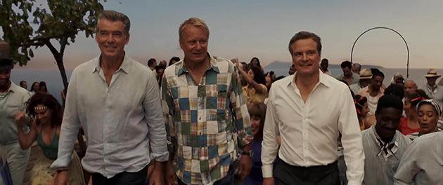 Pierce Brosnan, Stellan Skarsgård och Colin Firth