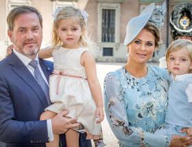Chris O'Neill, prinsessan Leonore, prinsessan Madeleine, prins Nicolas
