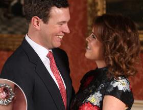 Nyförlovade - prinsessan Eugenie och Jack Brooksband.
