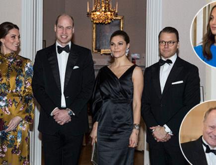 Hertiginnan Kate, prins William, Kkronprinsessan Victoria och prins Daniel.