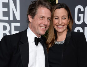Hugh Grant och Anna Eberstein