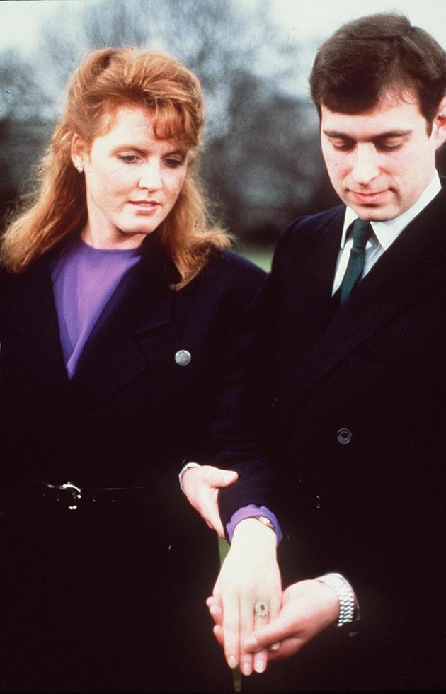 Sarah Ferguson och prins Andrew förlovade sig 1986.