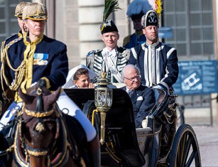 Kungens hästar Hovstallet, kungen, drottning Silvia