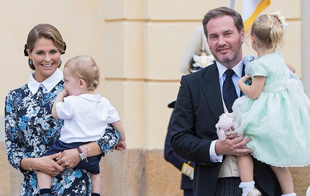 Prinsessan Madeleine, Chris O'Neill, prinsessan Leonore och prins Nicolas